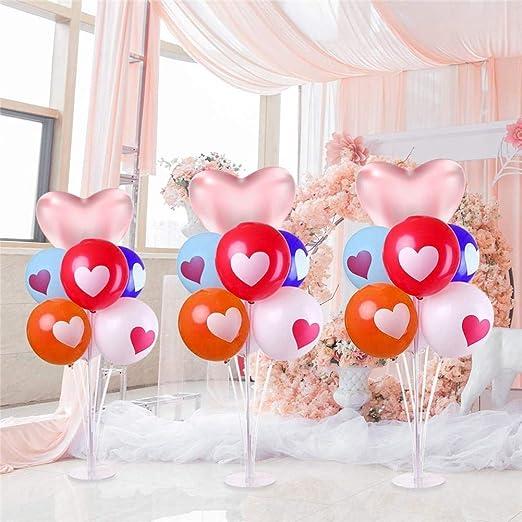 Corwar - Juego de soporte de globo de mesa para decoración ...