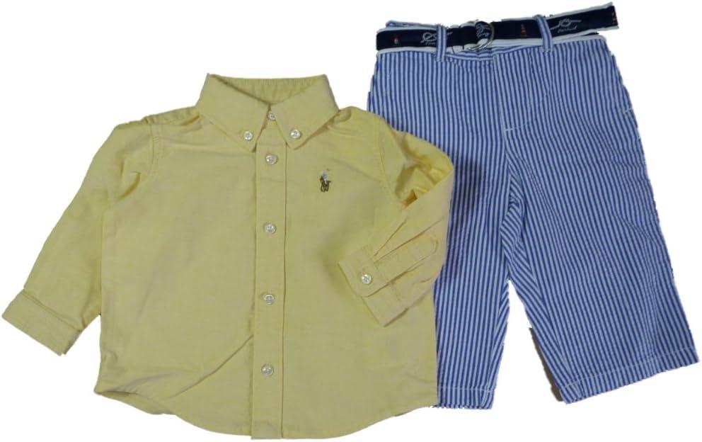 Ralph Lauren bebé niños Outfit Camisa + pantalones + Cinturón ...