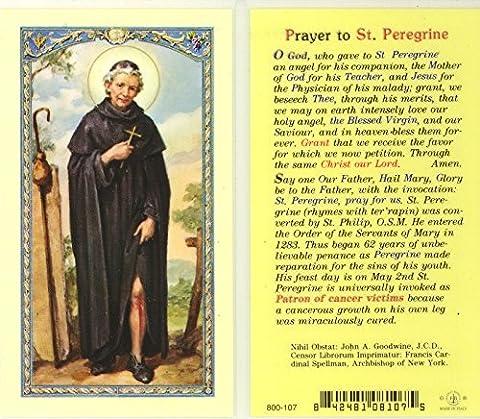 St. Peregrine Prayer/Biography Holy Card (800-107) - God Prayer Card