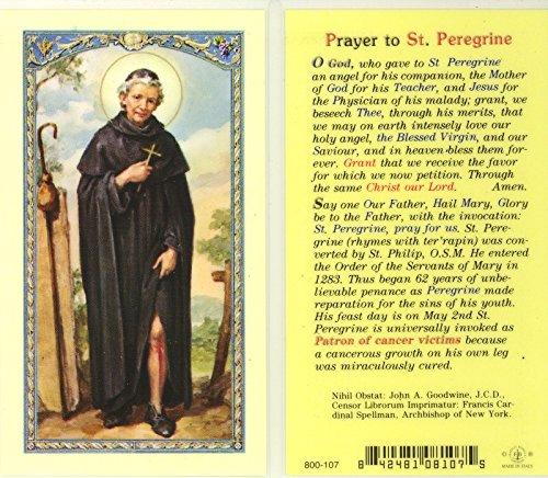 St. Peregrine Prayer/Biography Holy Card -