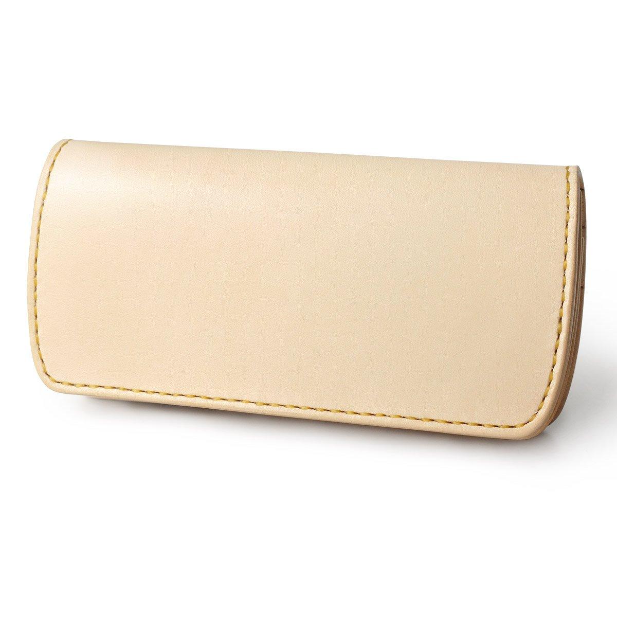 ロングウォレット A-2 フラップレス 革財布 サドルベーシック サドルレザー ハンドメイド B0111B9XS6 ドロップハンドル(真鍮色)|ナチュラル ナチュラル ドロップハンドル(真鍮色)