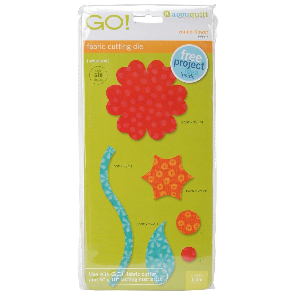 Accuquilt Die GO! 55007 Round Flower