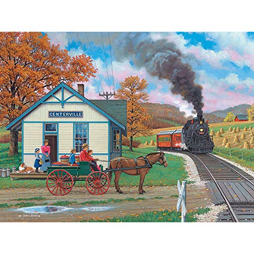 Bits and Pieces - Whistle Stop 500 Piece Jigsaw Puzzles for Adults - Each Puzzle Measures 18