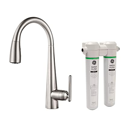 Pfister GT529-FLS Lita Xtract All-In-One Pull Down Kitchen Faucet with  Integrated Water Filter, Stainless Steel