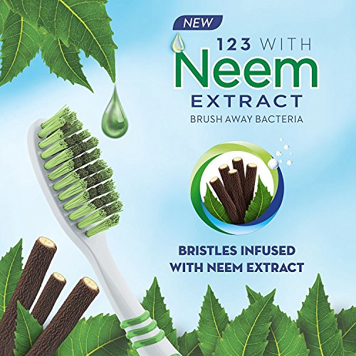 Oral B – Pack of 2 – Toothbrush with Neem extract in Bristles Cleans in between teeth and along Gumline – Buy Genuine from Uncle Duncun's Store NY