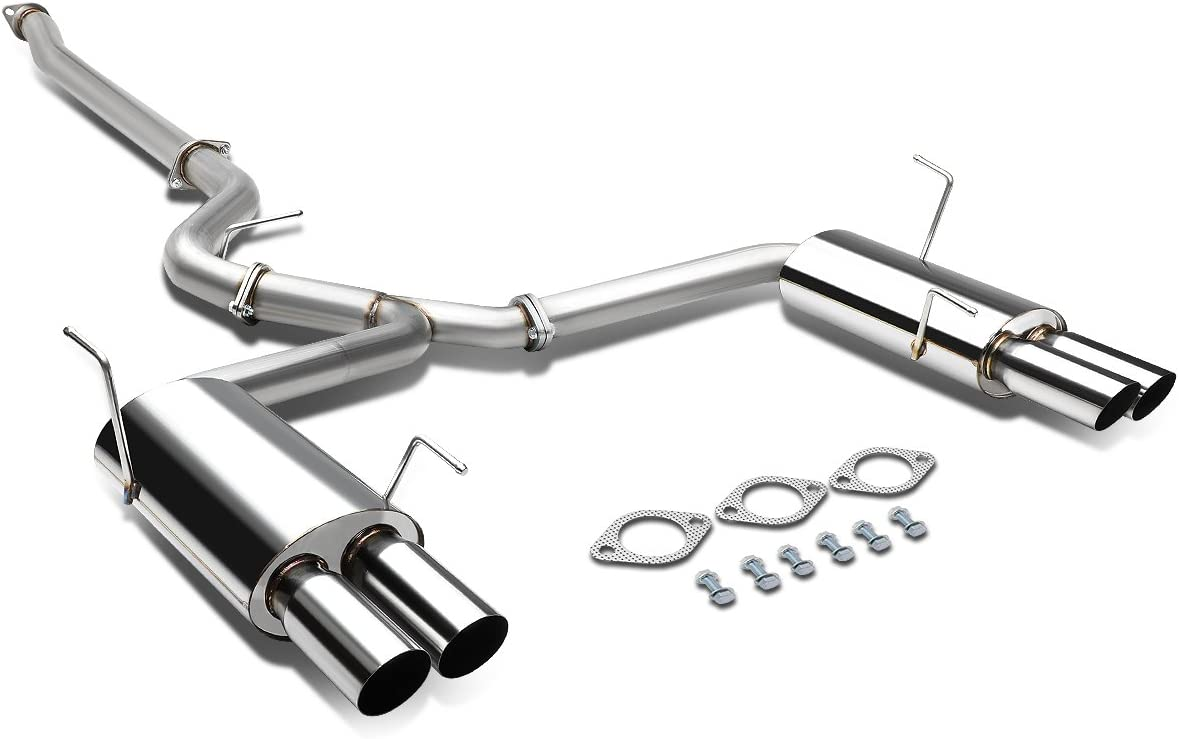 DNA Motoring CBE-WRX15-D Stainless Steel Catback Exhaust System