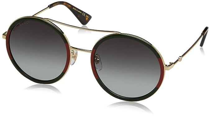 gucci damen sonnenbrille gg0061s 003 gold green 56