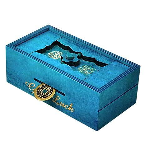 Amazon Com Wolfbush Puzzle Box Wooden Good Luck Puzzle Box Secret