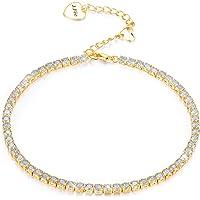 J.Fée Réglable Bracelet en Argent Sterling Bracelet 5A Zircon cubique - Un Grand Cadeau pour Les Femmes et Les Filles