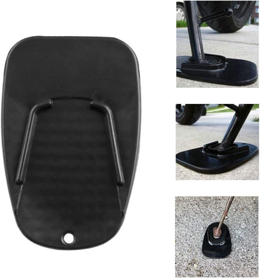 Etophigh Motorcycle Kickstand Pad Support Universal Motorcycle Plastic Side Stand Pad Non-slip Extension Bracket Base Protector Mat