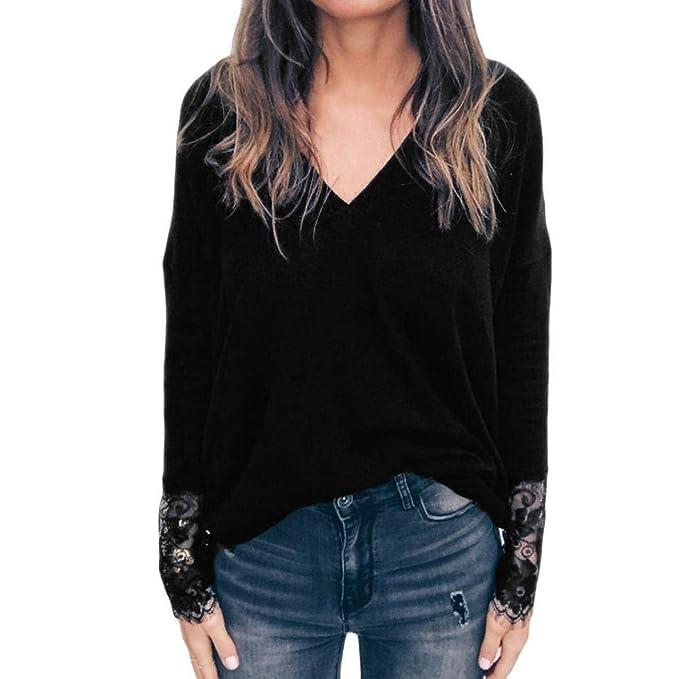 41f7495d687a Styledresser promozione Felpe da Donna,Pullover Donna Bianco,Blusa Scollo A  V con Scollo Av