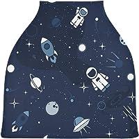 Blueangle - Funda elástica para asiento de coche de bebé, multiuso, diseño de astronautas de dibujos animados, fundas de…