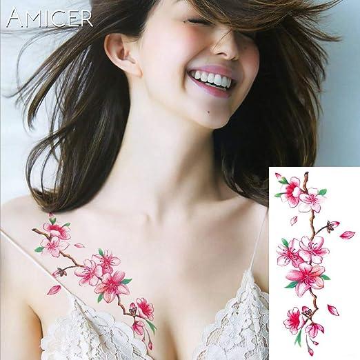 tzxdbh 4Pcs-3D realistas Flores de Cerezo Rosa Grandes Flores ...