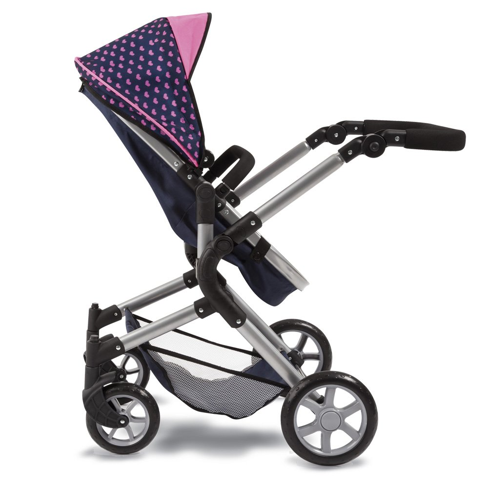 Bayer Design 18154AA City Neo Dolls Pram with Changing Bag, Blue/Pink by Bayer (Image #8)