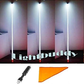 Theone FUSTA de fibra óptica LED de seguridad Whips Banderas CREE chips Tubo flexible Quick Disconnect: Amazon.es: Coche y moto