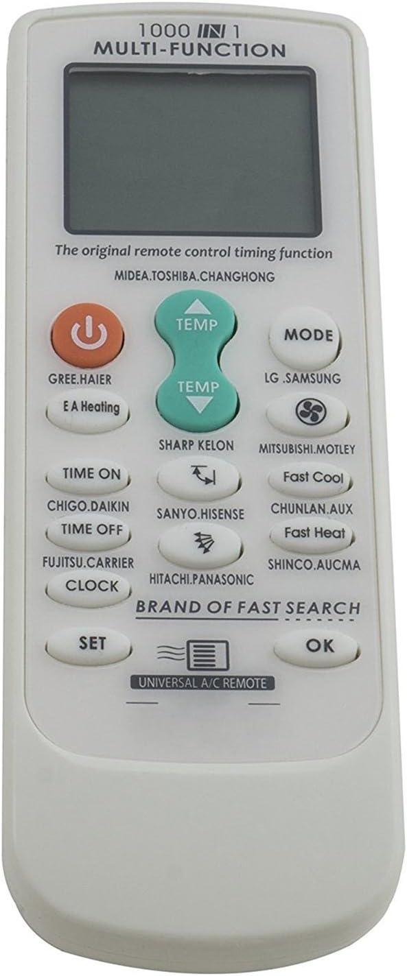 MovilCom® Mando Aire Acondicionado | Control Remoto Universal A/C SD-1909: Amazon.es: Hogar
