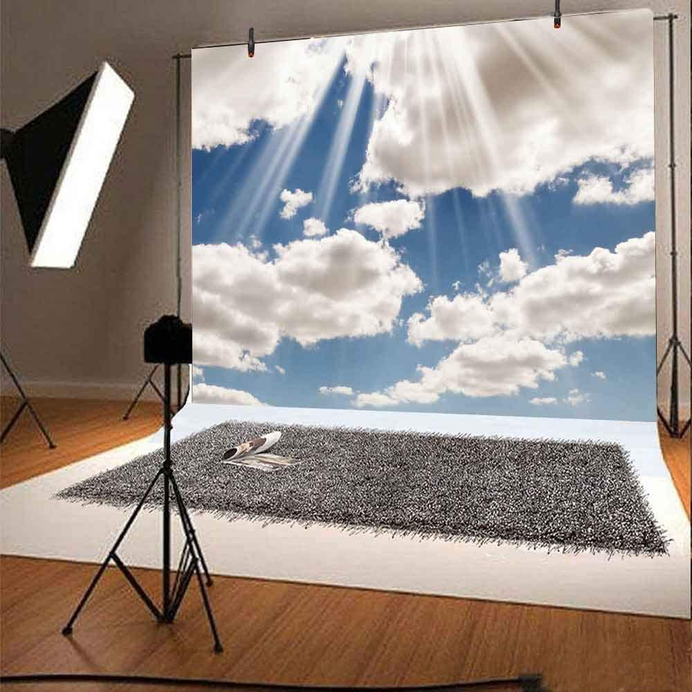 FHZON 7x5ft Violin Background Blue Sky Sea Photography Backdrops Themed Party Wallpaper Photo Booth Studio Props GYFH146