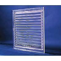 Grade de ventilação transparente acrílico p/vidro 15x15cm