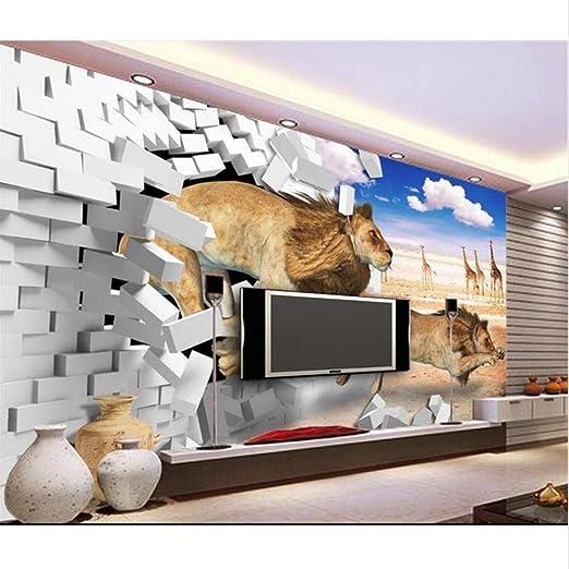 Guyuell Papel Tapiz 3D Habitación Personalizada Mural No Tejido ...