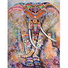 Orange Elephant Tapestry Wall Hanging Mandala Tapestries Cotton Bedspread Picnic Bedsheet Blanket Wall Art Hippie Tapestry L(203*153cm)