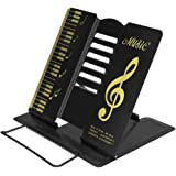 LY Metal Portable Folding Book Reading Stand Adjustable Desktop Music Stand Bookrest Cookbook Cook Book Holder
