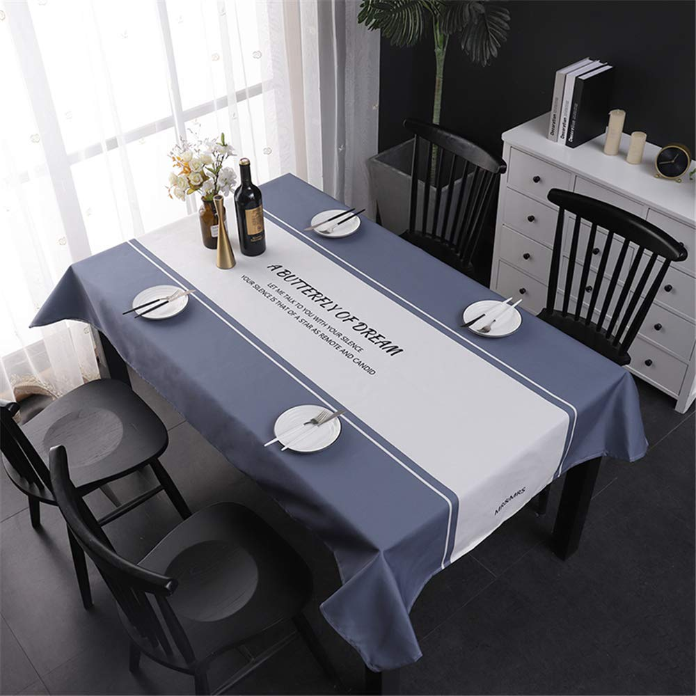 ZHIZHEN Tablecloth Waterproof Rectangular and Linen Solid Color Fabric Table Cloth by ZHIZHEN