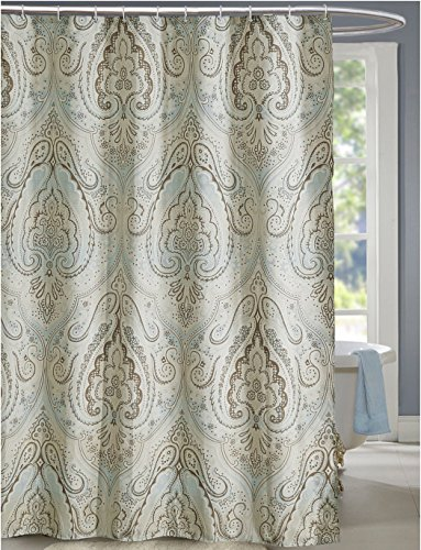 Mildew Resistant Shower Curtain Mildew-Resistant - Premium Waterproof Antibacterial Polyester Fabric Shower Curtain Set with Shower Rings,Hooks no Shower Liner needed for Bathroom -19-Sizes Available