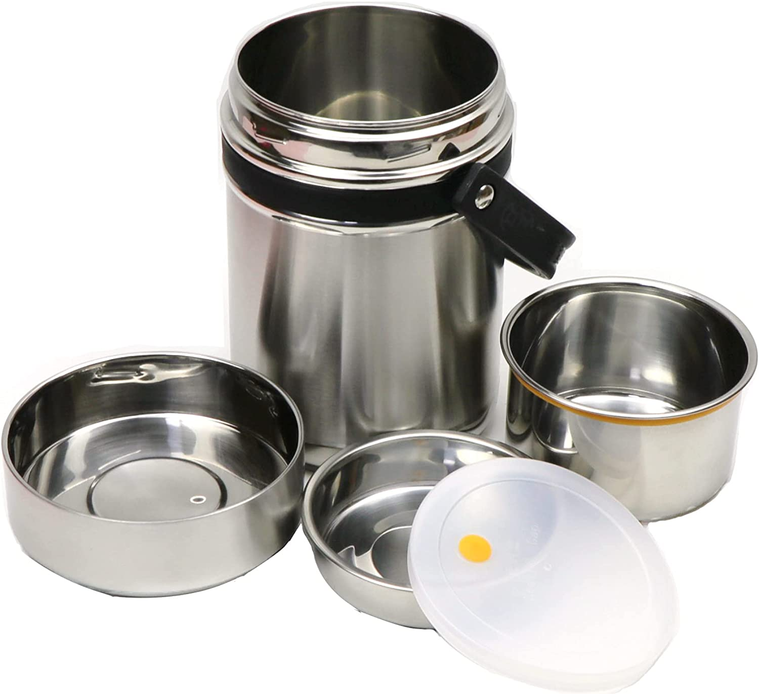 Lacusmall Insulated Lunch Container Hot Food Jar Vacuum Food Container Stainless Steel Thermal Soup Containers