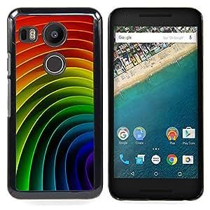 """Pulsar Snap-on Series Teléfono Carcasa Funda Case Caso para LG GOOGLE NEXUS 5X H790 , Modelo del arco iris gay vibrante"""""""