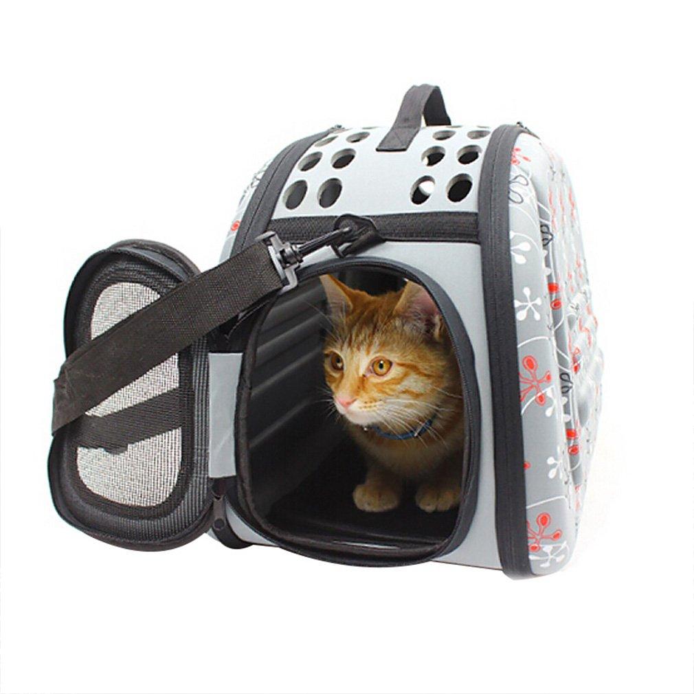 M Pet Carrier Pet Backpack Carrier Portable Bag Dog Out Transport Bag Cat Handbag Summer Breathable Bag Cat Foldable Backpack Shoulder Bags (Size   M)