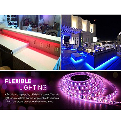 Color Changing Tape Light: Litake LED Strip Lights RF Remote,16.4ft Ribbon LED Light