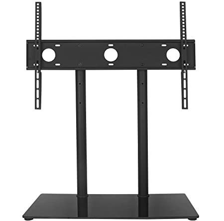 WALI Table Top TV Stand with Glass Base and and Security Wire Fits Most 32-60 inch LED, LCD, OLED and Plasma Flat Screen with VESA Pattern up to 600×400 TVDVD-2 , Black