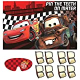 AmscanDisney Cars Formula Racer Birthday Party Game, 37 1/2'' X 24 1/2'', Red/Brown/White