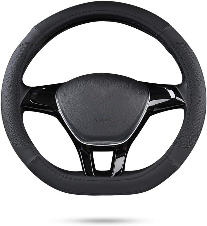 15 Beige braun Ergocar Auto Lenkradbezug Rutschfester Auto Sport Lenkradschutz Mikrofaser Leder mit EVA Elastic Cushion f/ür Durchmesser 38cm