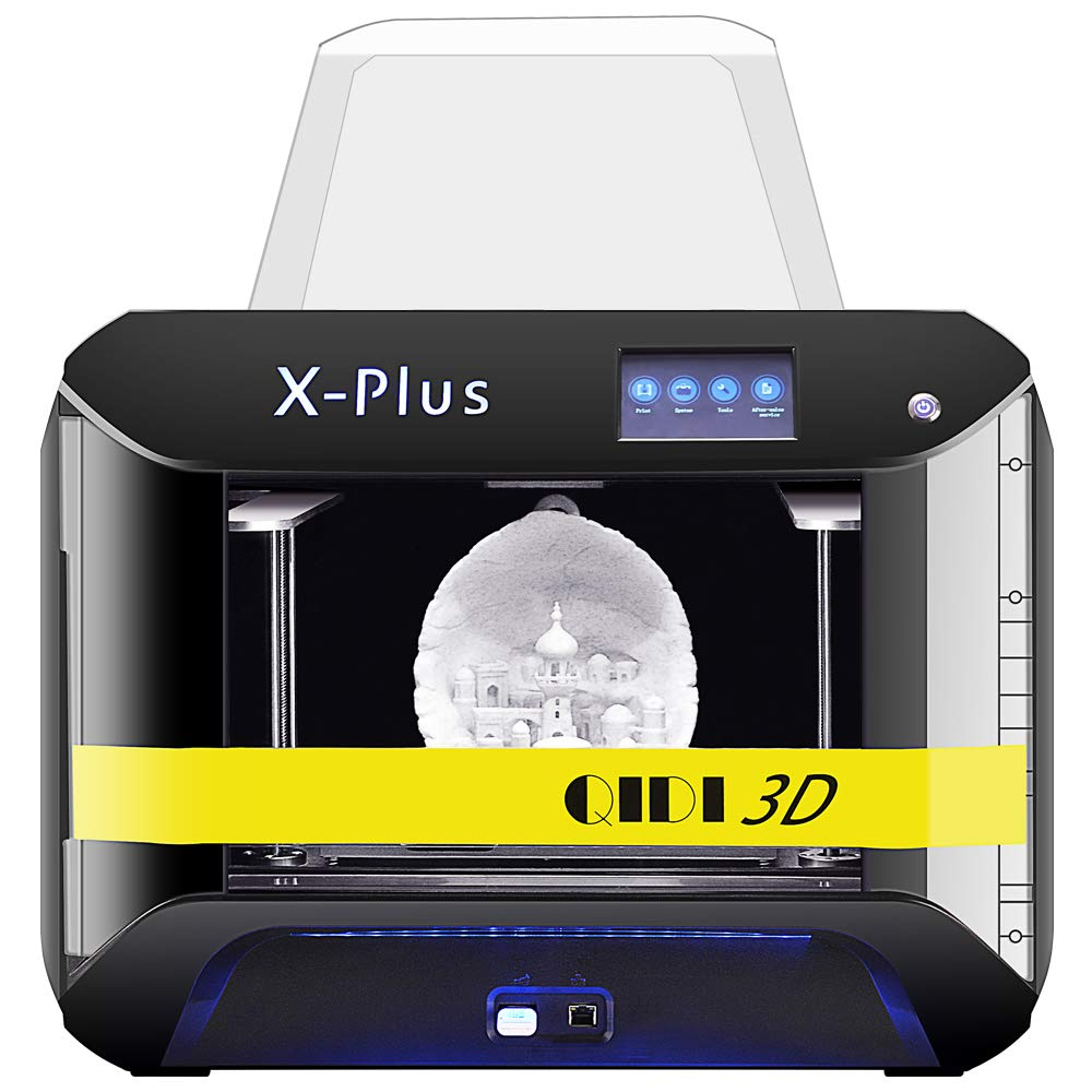 QIDI TECH 3D Printer, Large Size X-Plus Intelligent Industrial Grade 3D Printing with Nylon, Carbon Fiber, PC,High Precision Printing 10.6x7.9x7.9 ...