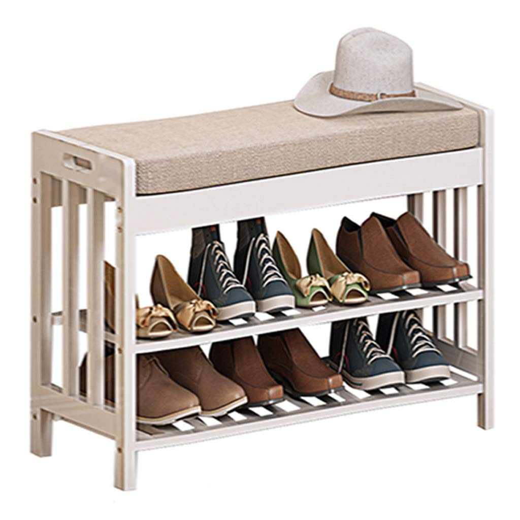 700290490MM Bench Change shoes Bench Bamboo Environmental Predection shoes Rack Solid Wood Try On shoes Cabinet Nordic Simple Wearing A shoes Bench Storage Multifunction Sofa Stool,700  290  490MM