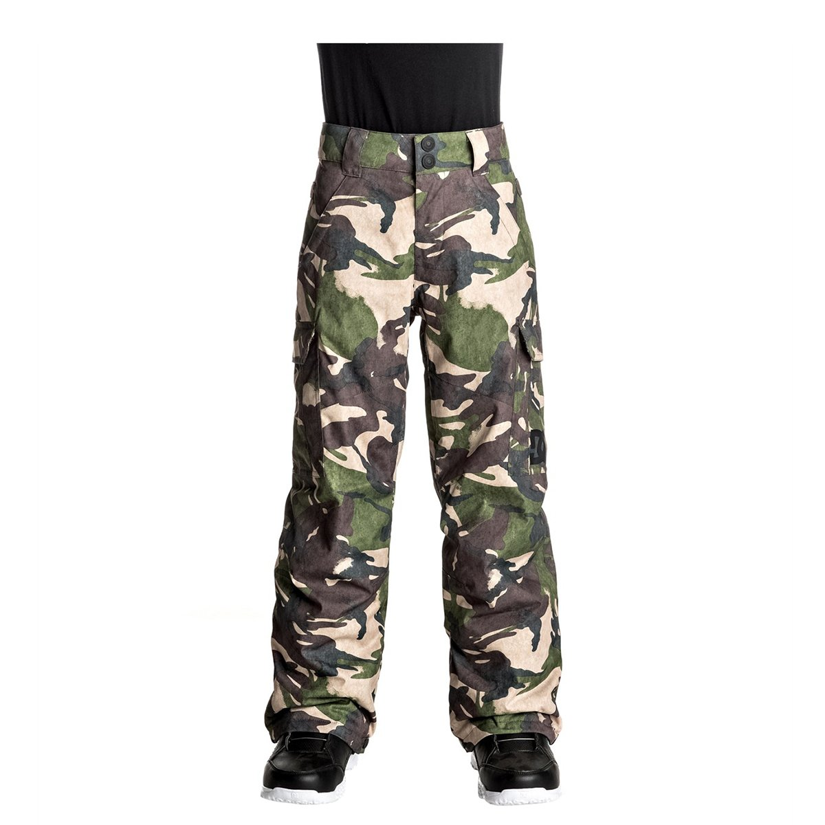 DC Boys Banshee Pants 12/Large Woodland Camo Youth