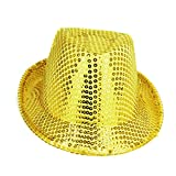 Pack Of 24 - 27cm x 14cm Gold Sequin Trilby Hats - Fancy Dress - Stag / Hen Night Accessories