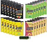 SPORT BEANS Jelly Belly Variety 1 oz (28g) – Assorted, Green Apple, Juicy Pear & Strawberry Banana – Pack of 24 (6 Packs of Each Flavor) Naturally Flavored with a Jarosa Peppermint Lip Balm (Boxed)