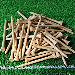 2017 New Hot Sale bamboo golf tee 83mm 50Pcs/pack Golf Tees.