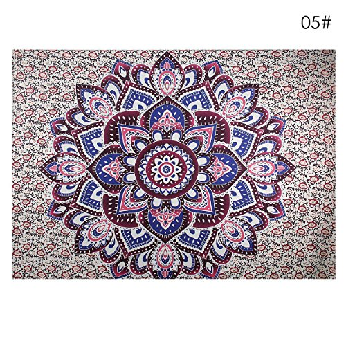 Indian Decor Mandala Tapestry Wall Hanging Hippie Throw Bohemian Twin Bedspread Floret (Heart Tapestry)