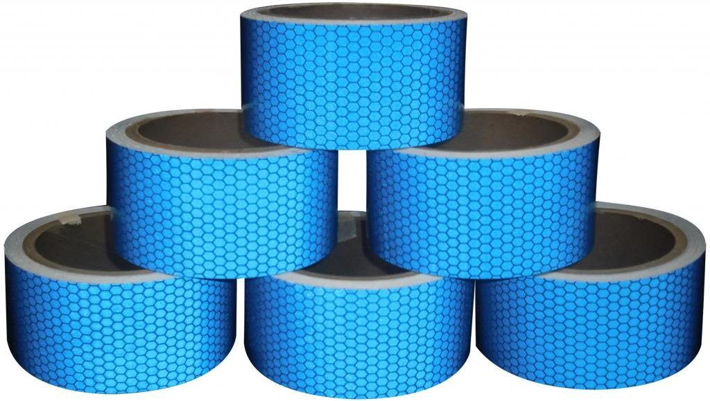 Direct Products Hi Viz Intensity Grade Blue Reflective Tape 50mm X 300mm