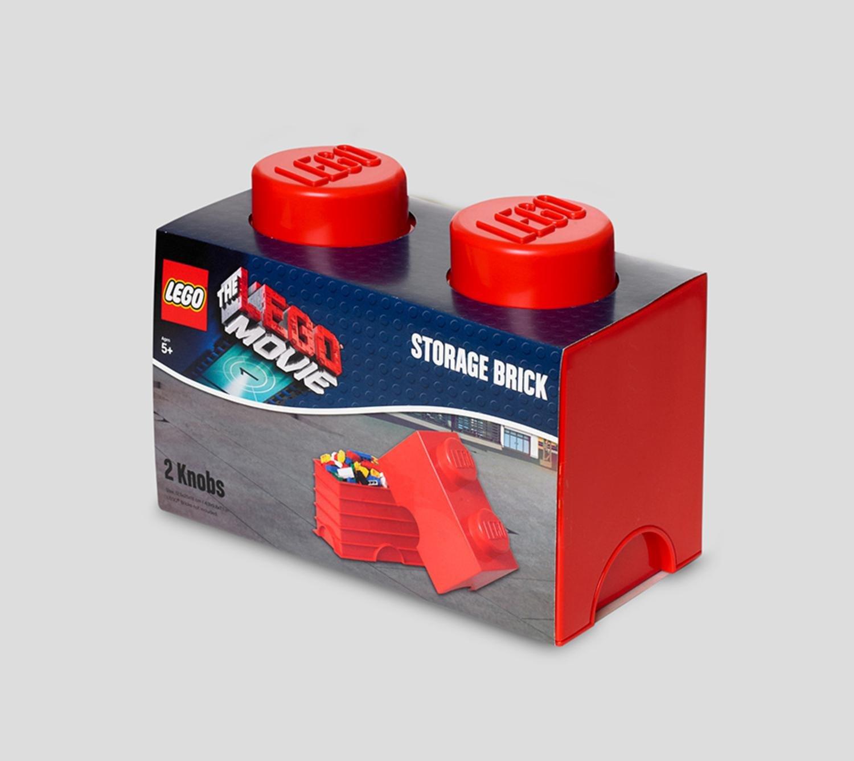LEGO Movie Bright Red Storage Brick 2 Children's Toy Box