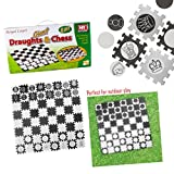 2-IN-1 GIANT DRAUGHTS CHESS GARDEN LAWN GAMES FAMILY FUN INDOOR OUTDOOR PLAY MAT by Guaranteed4Less