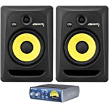 """Package:(2) KRK RP8-G3 Rokit Active 8"""" Inch Studio Reference Monitors + PreSonus TubePre V2 Single-channel Microphone and Instrument XMAX Class A Preamplifier with Built-in Tube Tone Circuit"""