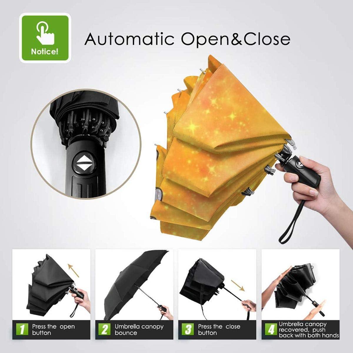 Windproof Travel Umbrella Dumbo Love Compact Folding Umbrella Automatic Open//Close
