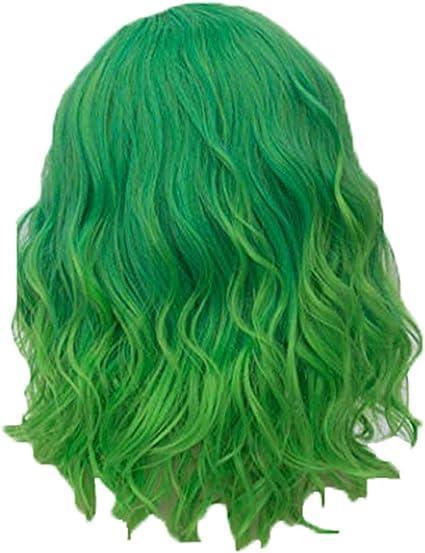 Viahwyt 2019 - Peluca de pelo sintético para mujer, color verde