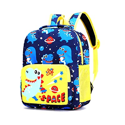 Cute Kindergarten Toddler backpack Preschool bag Child Book Bag Cartoon Animal School Bags for Kid Children Elementary Student Bookbags Lunch Box Carry Bag for 1-6 Years Boys Girls, dinosaur | Kids' Backpacks