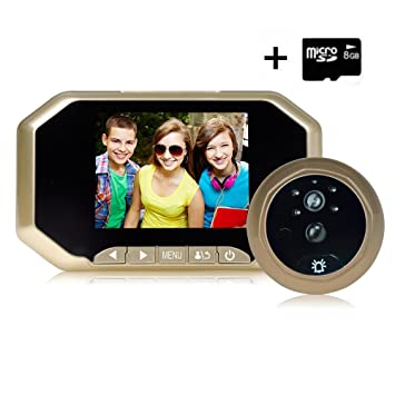 Digital Door Peephole Viewer Camera(8G Micro Card Included) 3.5 Inches 160°  sc 1 st  Amazon.com & Digital Door Peephole Viewer Camera(8G Micro Card Included) 3.5 ...