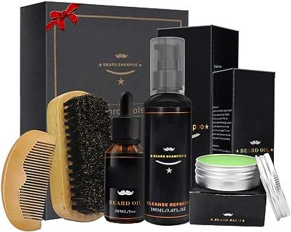 Aliver Beard Growth Grooming Kit For Men Dad Husband Beard Care Gift Sets With Beard Balm Beard Oil Beard Shampoo Beard Brush Beard Comb 100 Natural Organic A Amazon Co Uk Beauty